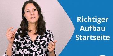 Video: Aufbau einer Website: Was sollte unbedingt auf Deine Startseite?