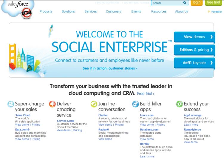 Ansicht bezüglich Customer Centricity bei Salesforce