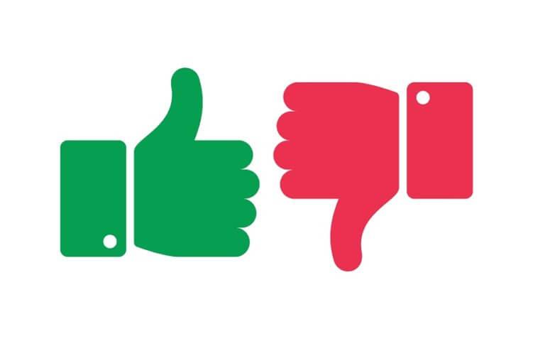 positive und negative Bewertungen