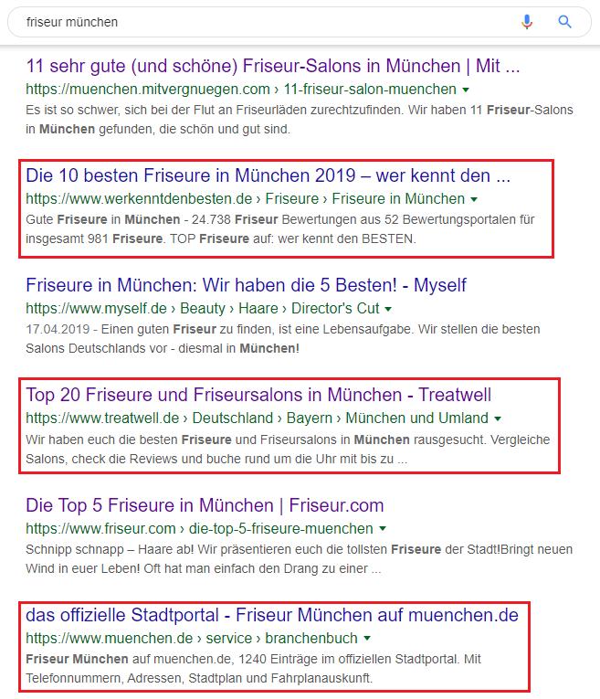 Suchergebnisse Friseur
