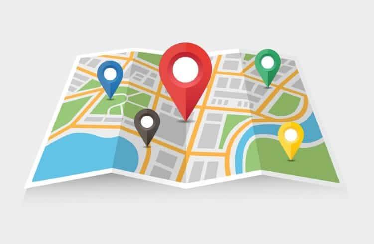 Karte für mobile Navigation