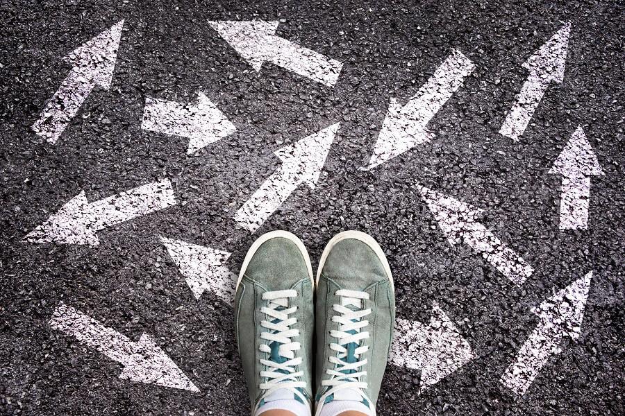 SEO-Strategie: Füße auf Boden