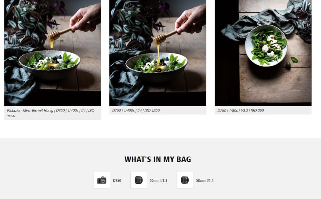 Produktbilder für Shoppable Content von Nikon