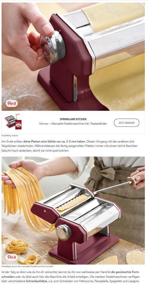 Springlane integriert Produkt für Shoppable Content