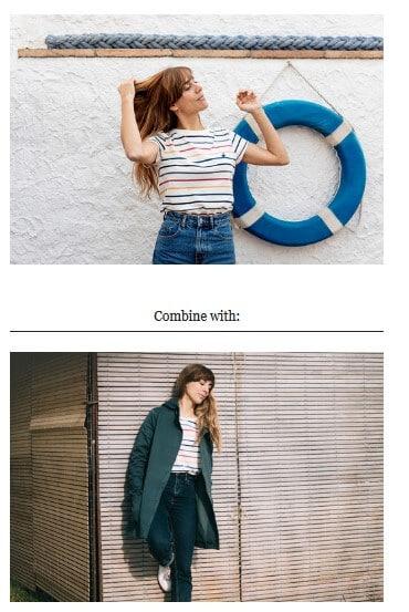 Newsletter-Beispiel für Shoppable Content