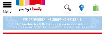 mobiler Header Beispiel Online Shop