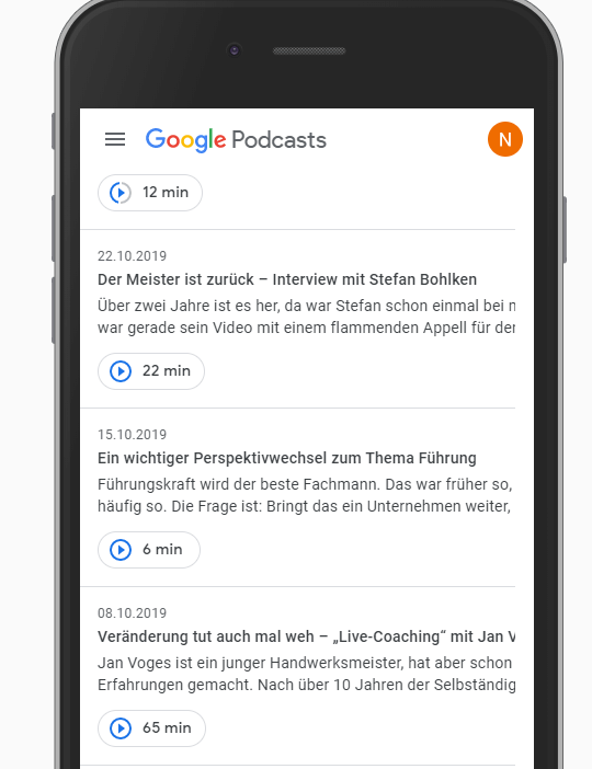 Googel Podcasts Folgen