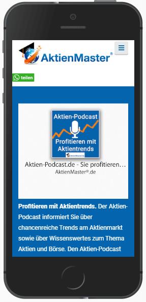 Landingpage Podcast wichtigste Infos