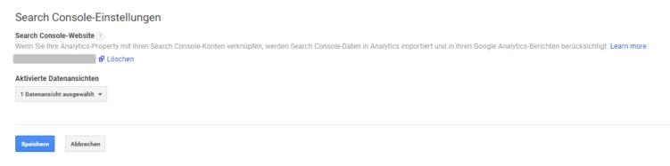 GSC-Verknüpfung in Google Analytics - Teil 2